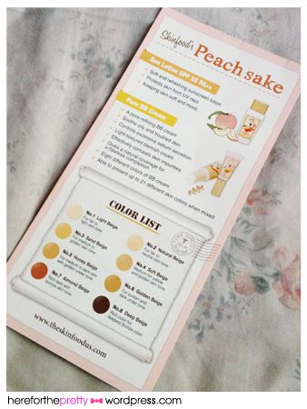 skinfood_peachsake bb cream  I would be so happy if you found the 2 darker colours