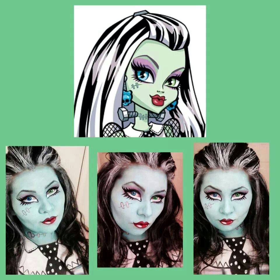 Monster high Frankie face paint
