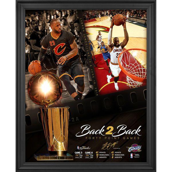 LeBron James Cleveland Cavaliers Fanatics Authentic Framed 16\
