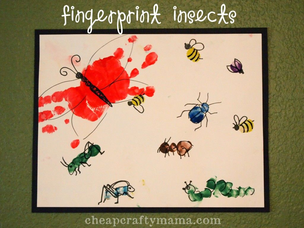 I Is For Insects Fingerprint Insects