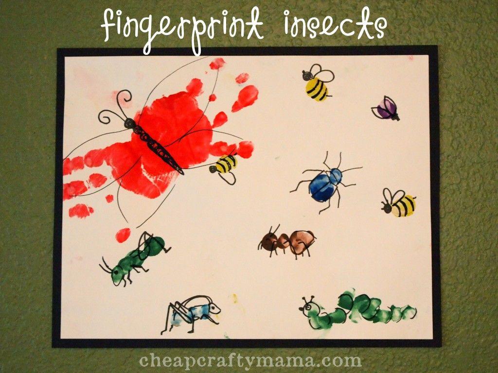 fingerprint insects kid blogger network activities u0026 crafts