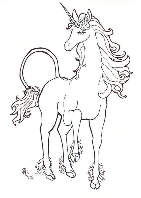Unicorn Coloriage Pinterest Disegni Animati Disegni Da