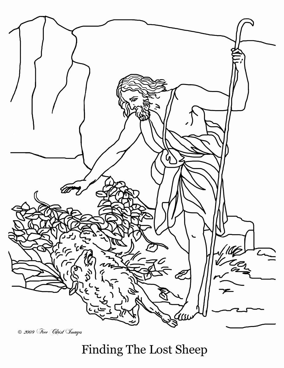 Parable Of The Lost Sheep Coloring Page Awesome Free Christian