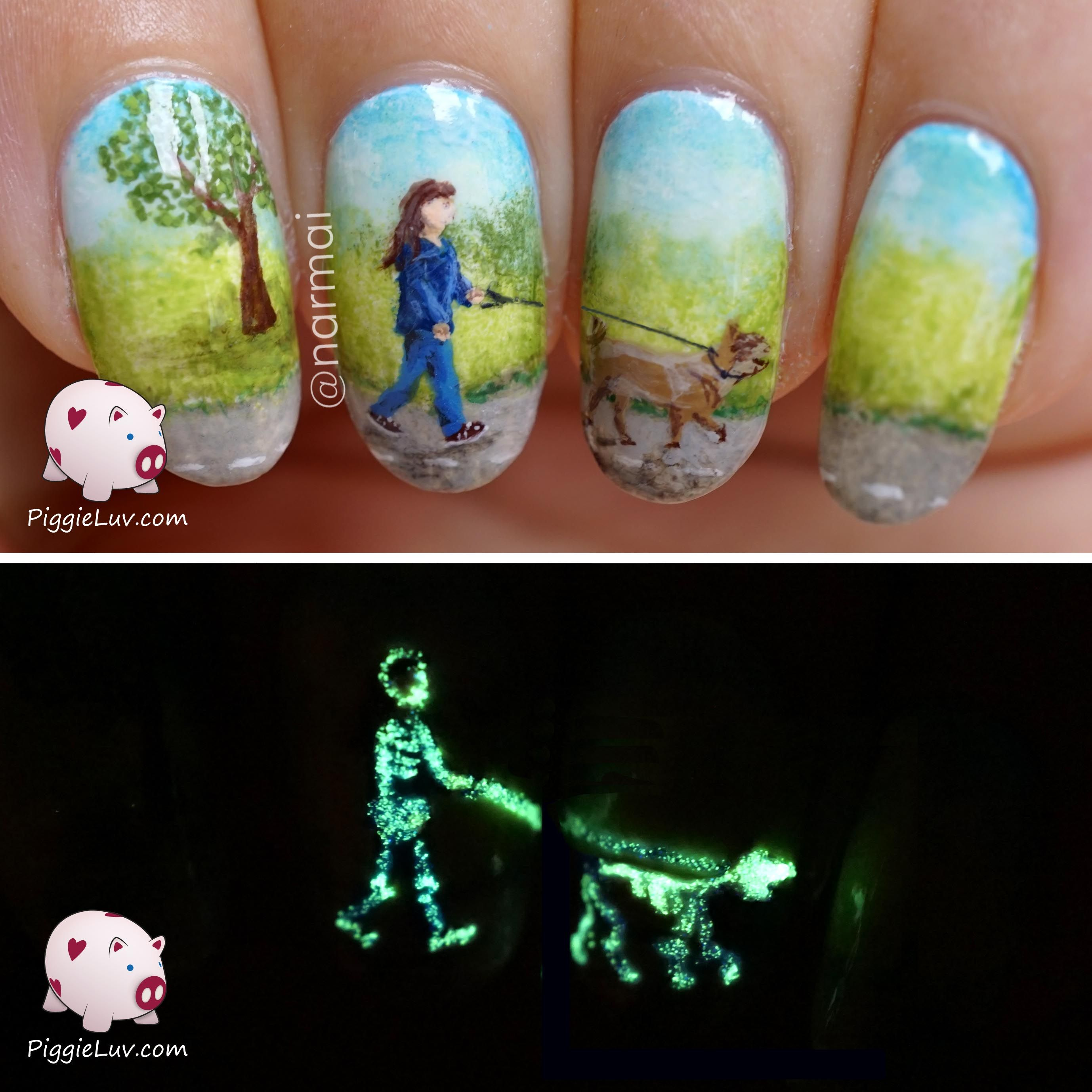 Piggieluv Galaxy Donuts Nail Art: X-ray Nail Art (glow In The Dark)