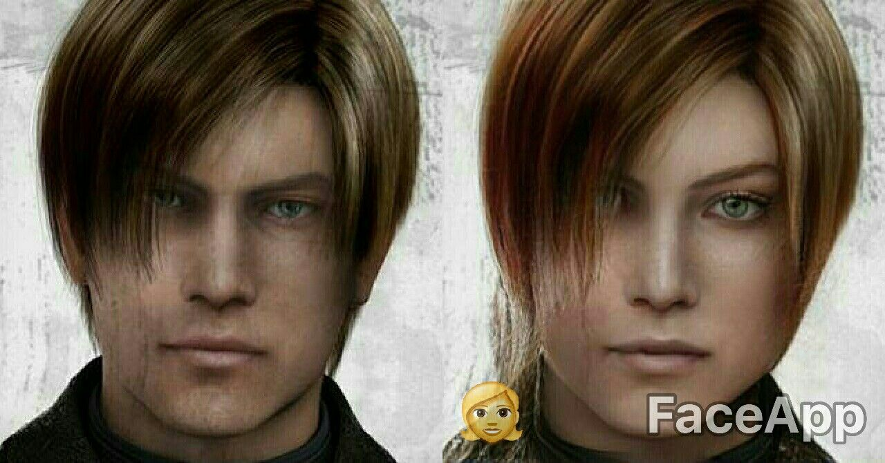 both of them are leon the one on the right is not claire
