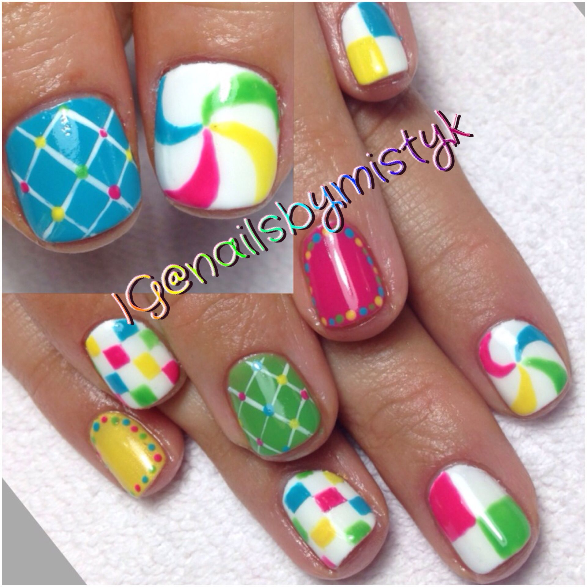 Shellac Nail Art Colorful Nail Design Spring Nail Art My Nail