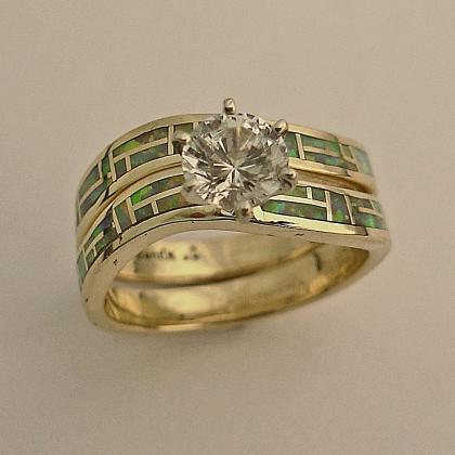 Diamond Amp Turquoise Wedding Rings On Pinterest