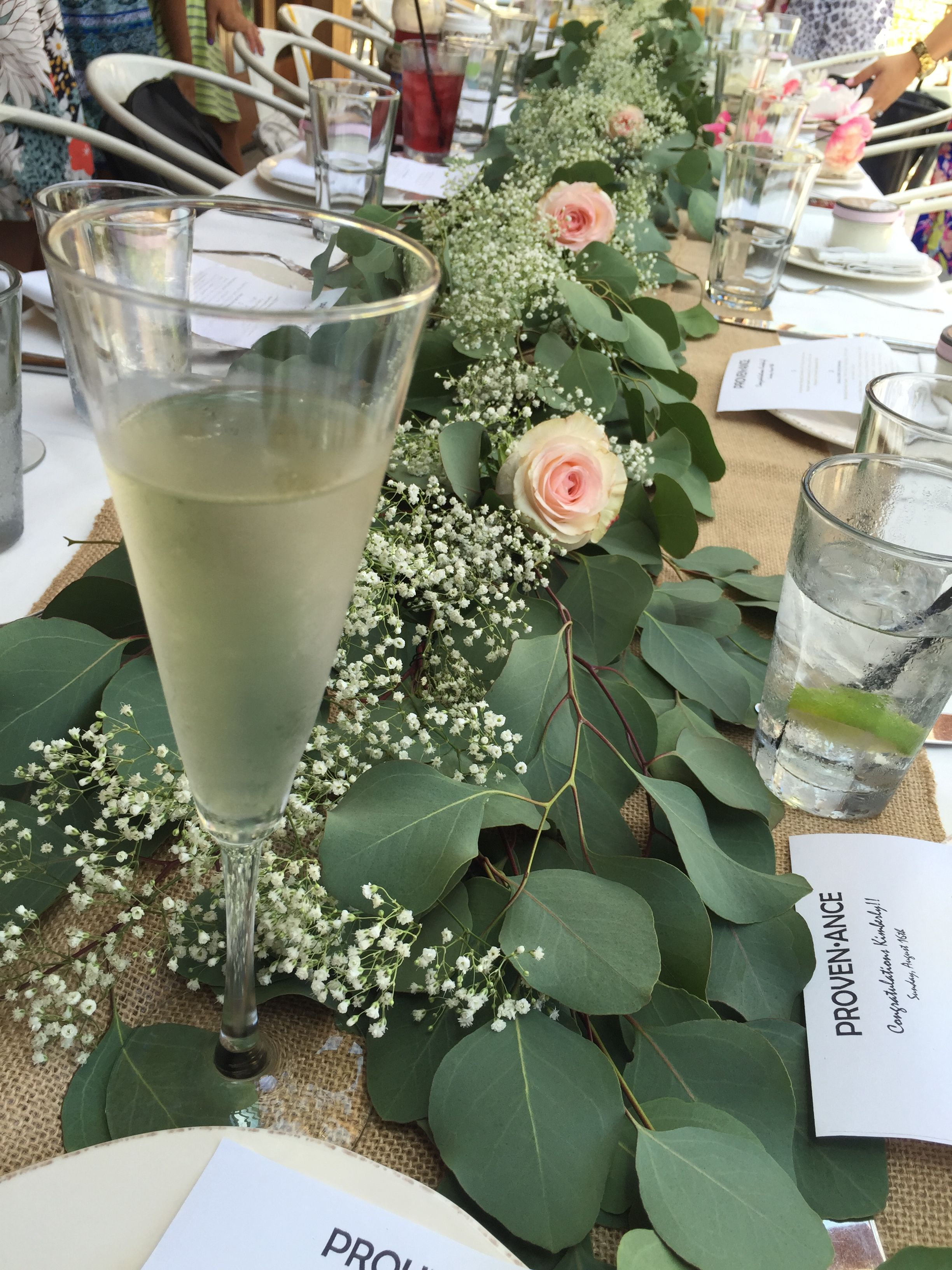 Silver Dollar Eucalyptus Runner With Baby S Breath And