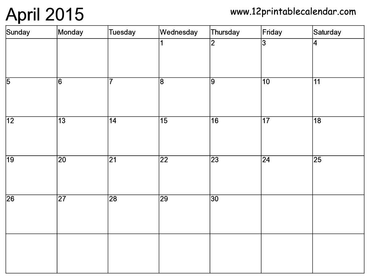 Free Printable Calendar Templates Month