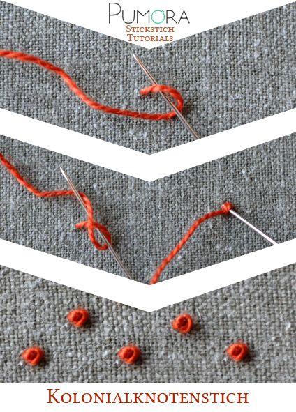 Die besten Stickstiche für Flächen #strickenundhäkeln
