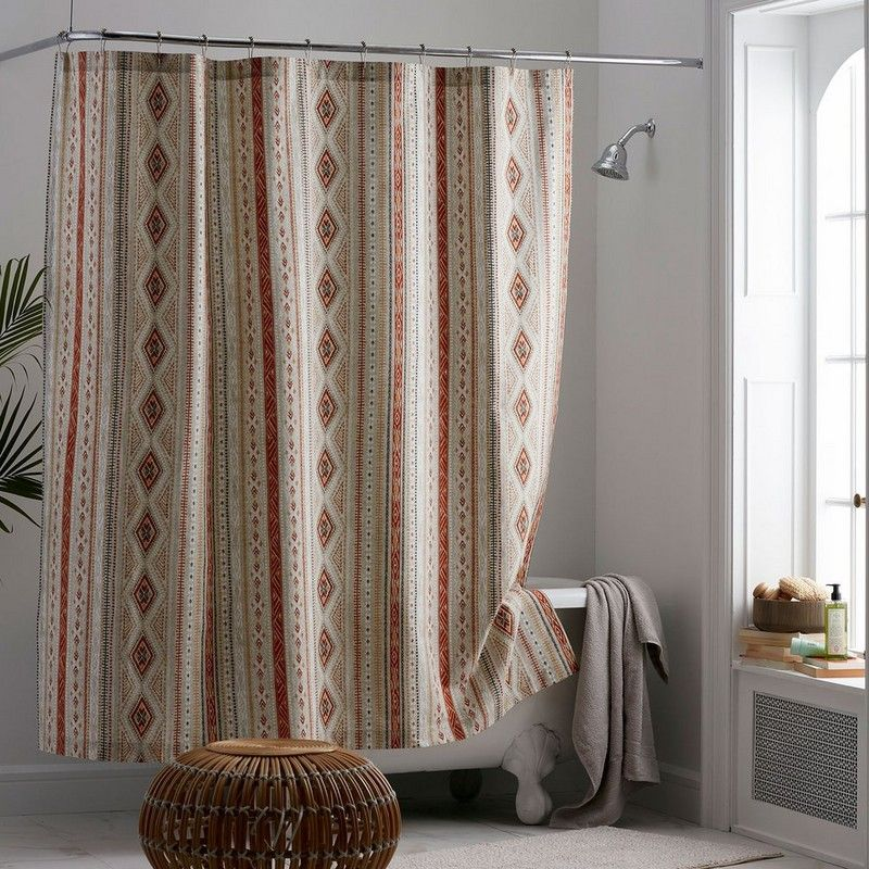 Southwest Print Cotton Percale Shower Curtain The Company Store