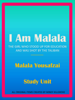 001 I Am Malala Study Unit (Now Editable!) Writing classes