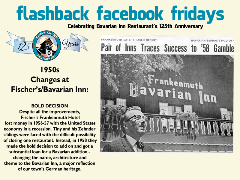 Each week during 2013, we will feature a flashback photo and share our history. Please share these weekly postings with your friends and family and join us in celebrating our 125th anniversary.  Week-20 The Bold Decision!
