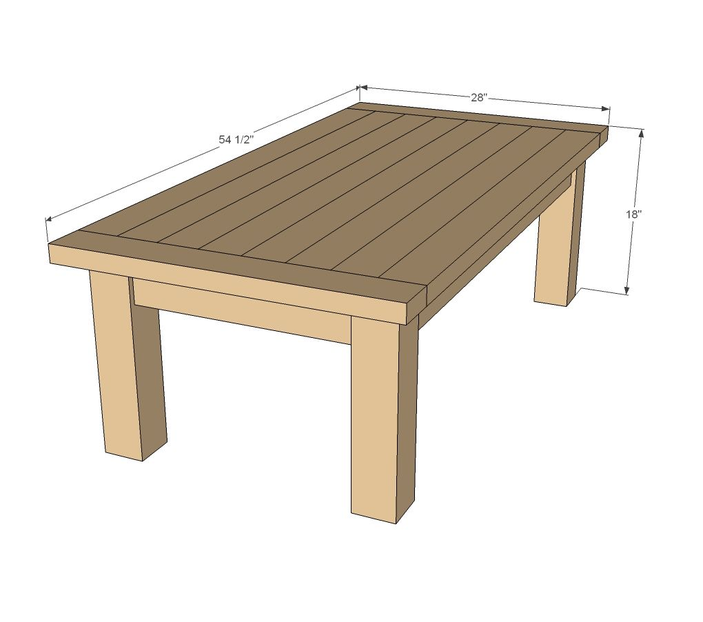 Updated Tryde Coffee Table Pocket Holes Coffee Table