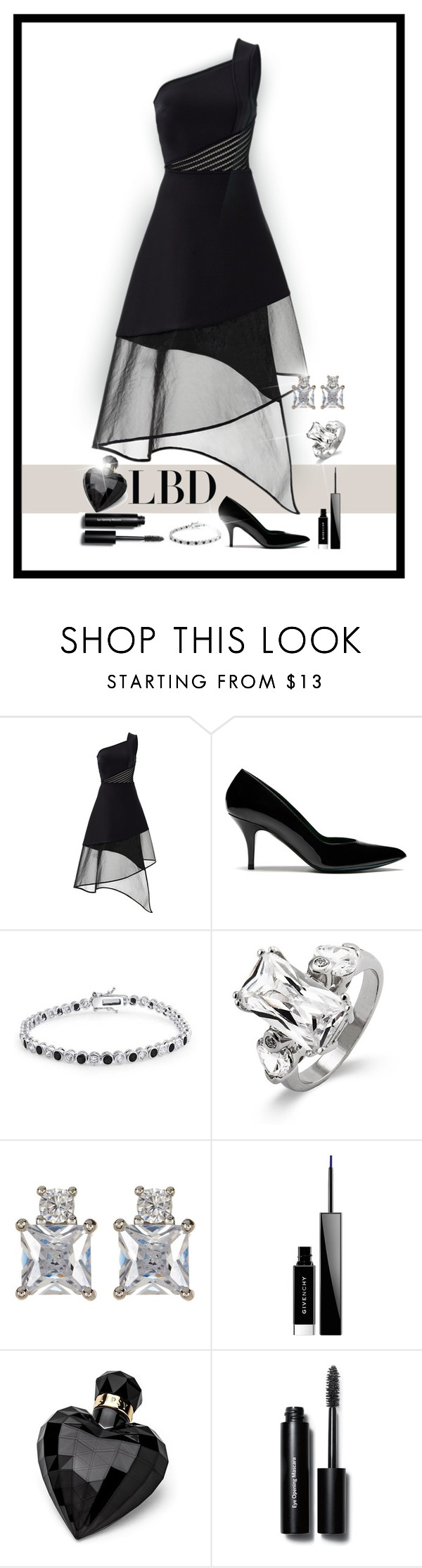 """""""LBD"""" by patricia-dimmick ❤ liked on Polyvore featuring David Koma, Mulberry, Bling Jewelry, Nordstrom Rack, Givenchy, Lipsy, Bobbi Brown Cosmetics, LBD and eveninglook"""