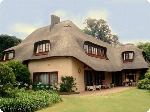 African Thatched Houses cosy African Thatched house in