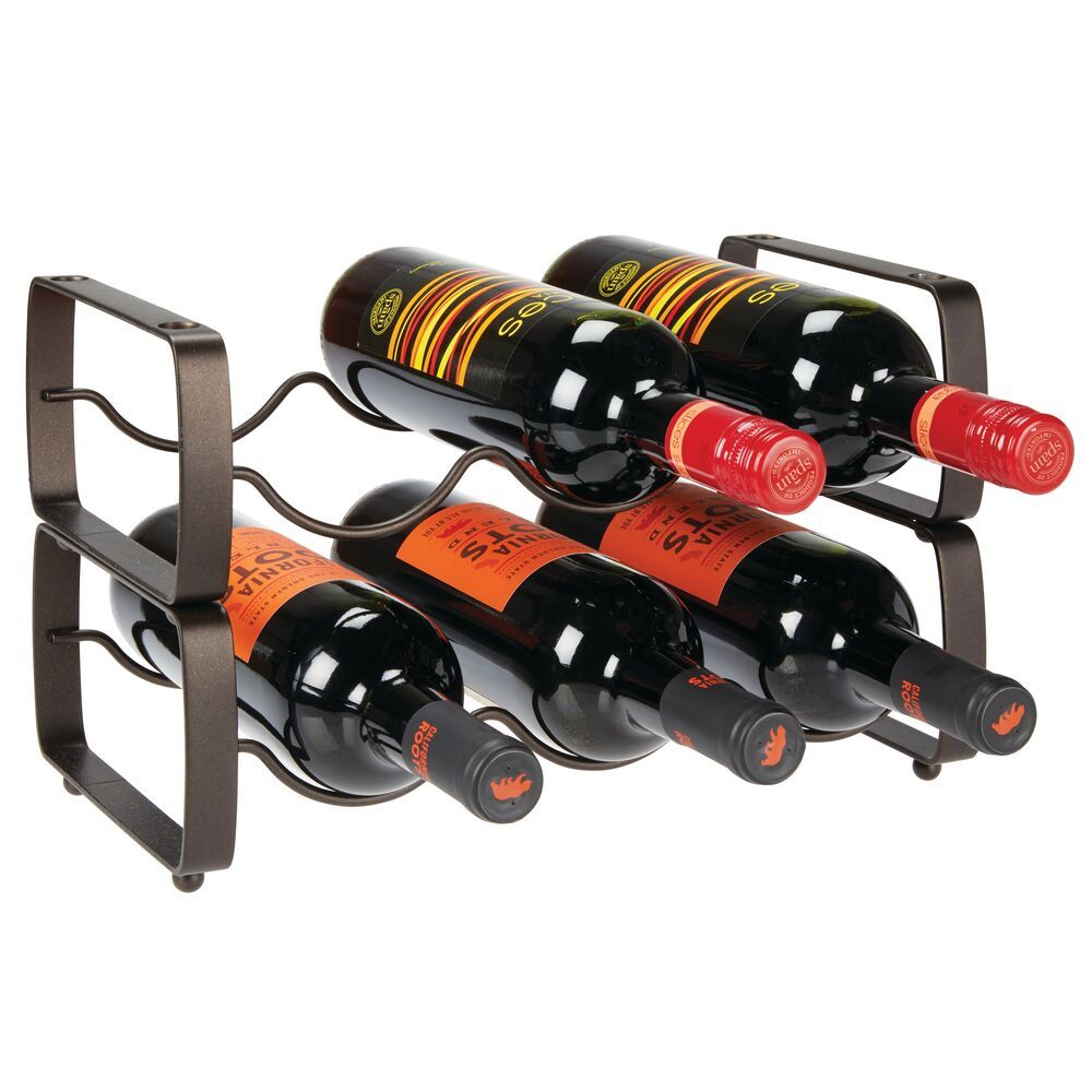 Stacking 3 Bottle Wine Rack Storage Organizer Holder Wine Rack