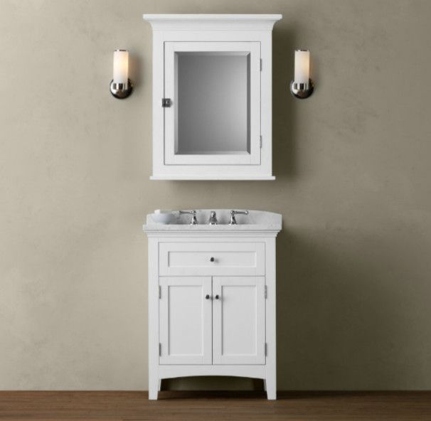 Cartwright Powder Room Vanity Sink White   Traditional   Bathroom Vanities  And Sink Consoles   Restoration Hardware