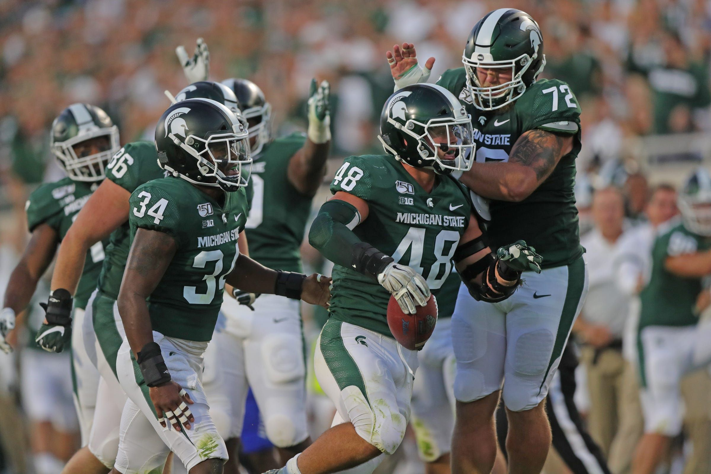 Michigan State Football Held Tulsa To Minus 73 Yards Rushing Here S How It Did It Michigan State Football Michigan State Spartans Football Spartans Football