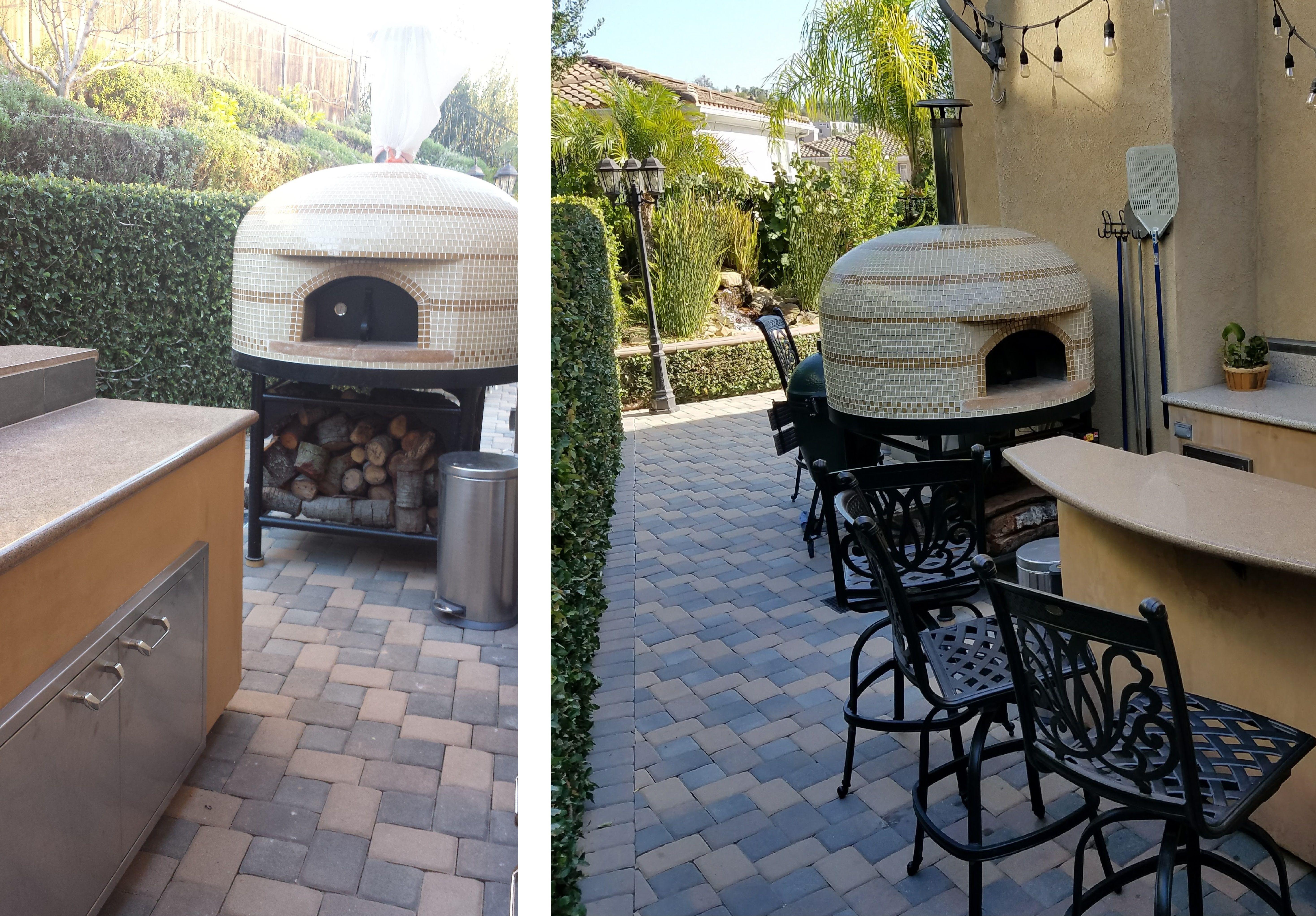 Custom napolino and vesuvio pizza ovens outdoor kitchens