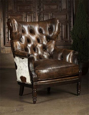 Paul Robert Colby Chair Cowhide, Paul Robert Furniture