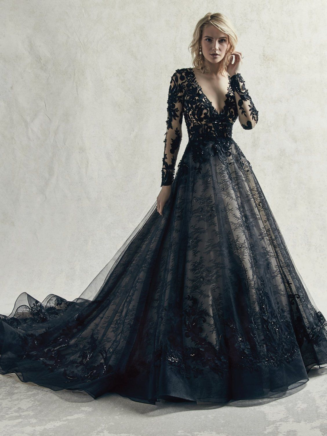 Zander By Sottero And Midgley Wedding Dresses Black Lace Wedding Dress Black Lace Wedding Ball Gowns Wedding