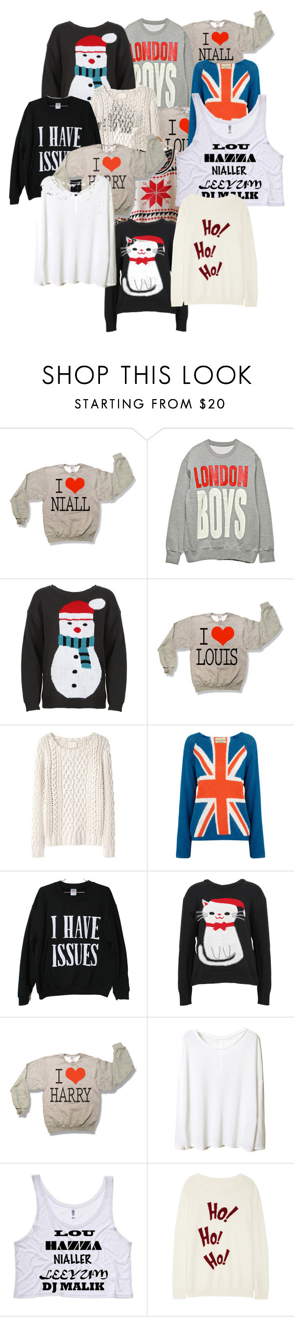 """""""sweaters"""" by flipflopcutie ❤ liked on Polyvore featuring Band of Outsiders, Wildfox, Retrò and Lot78"""
