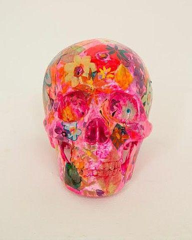 Flowerhead 1 w/ Yerin Kim 2014 Paint on Skull $300 (on etsy)