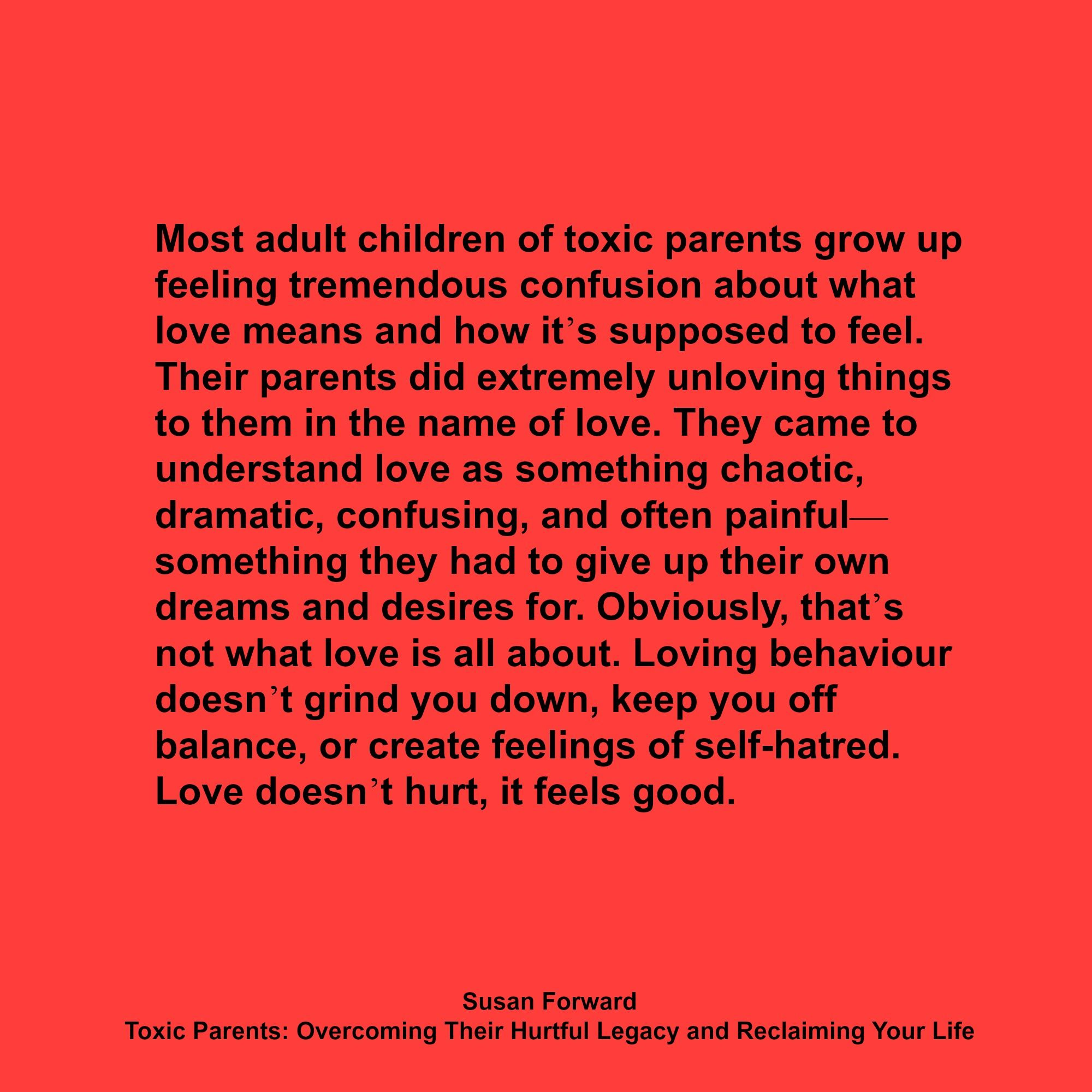 a literary analysis of the toxic parents by dr susan forward Read toxic parents by craig buck, dr susan forward dr susan forward draws on case histories and the real-life voices of adult children of classic literature.