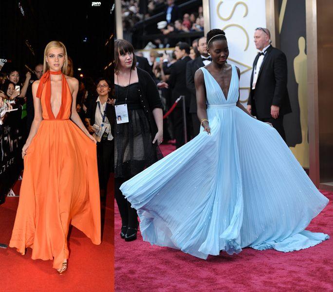 Nicola Peltz Vs. Lupita Nyong\'o in custom-made Prada gown ...