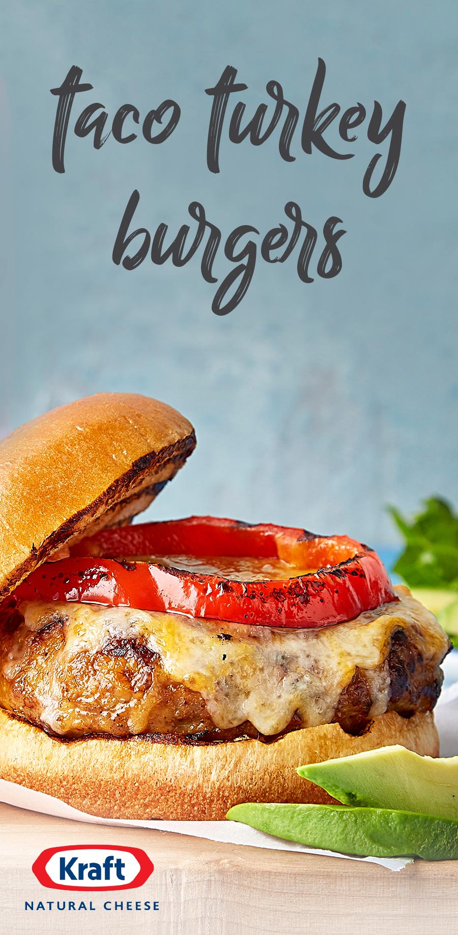 Taco Turkey Burgers Recipe Turkey Burger Recipes Recipes Food
