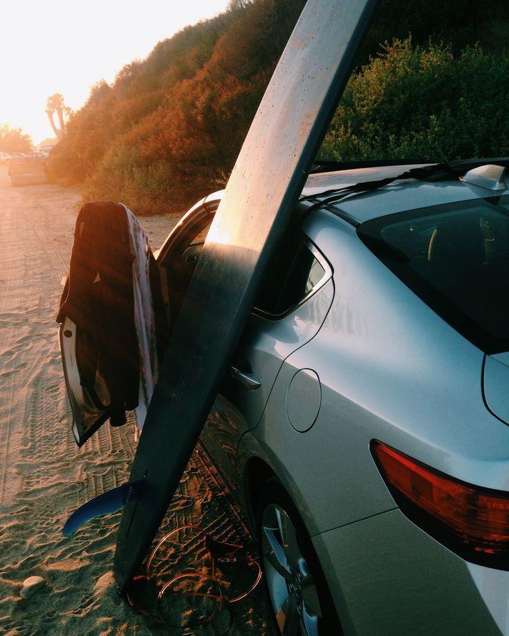 2014 Acura ILX Gray Sedan Exterior Rear With Surfboard