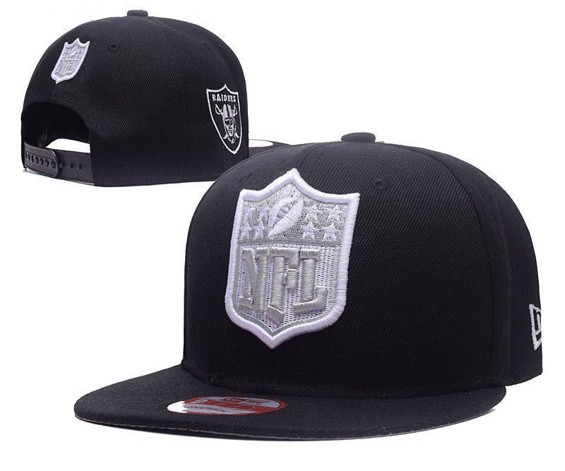 53eba9579 Men s Oakland Raiders New Era NFL Team Shield Logo Embroidery 9FIFTY  Snapback Cap - Black