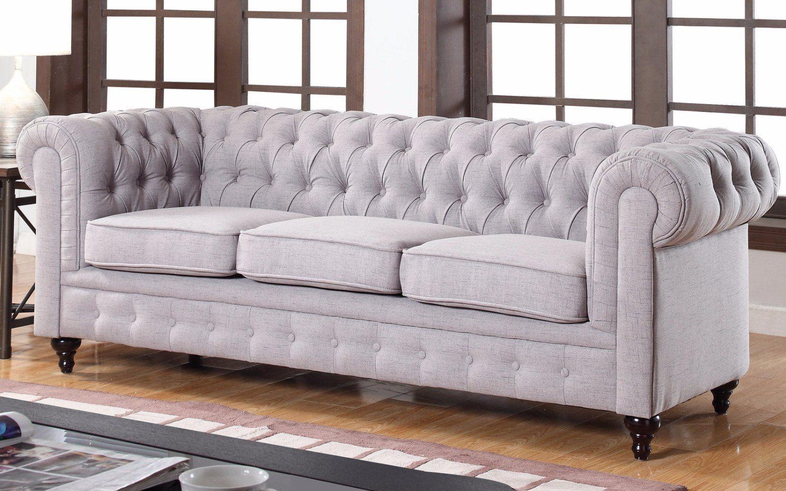 Charleston Classic Chesterfield Linen Sofa Chesterfield Style Sofa Fabric Chesterfield Sofa Furniture