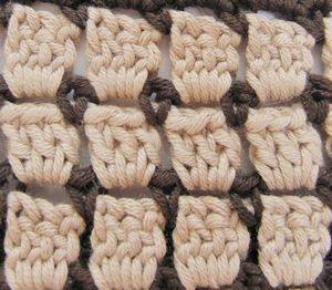 crochet stitch pattern colours colors 2 two multiple guide