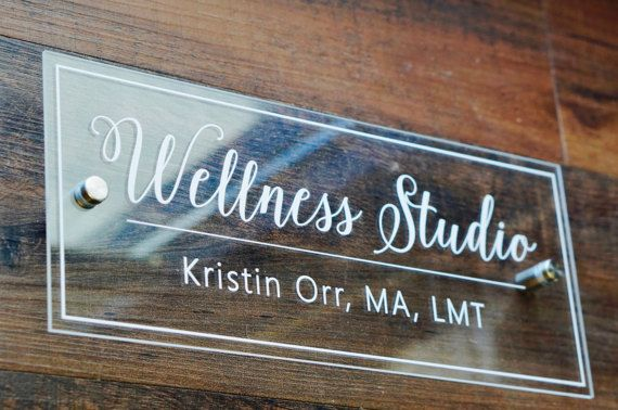 78707b3924b Door Name Plate CLEAR Acrylic (Shown as 5 x 12 inches) Reception ...