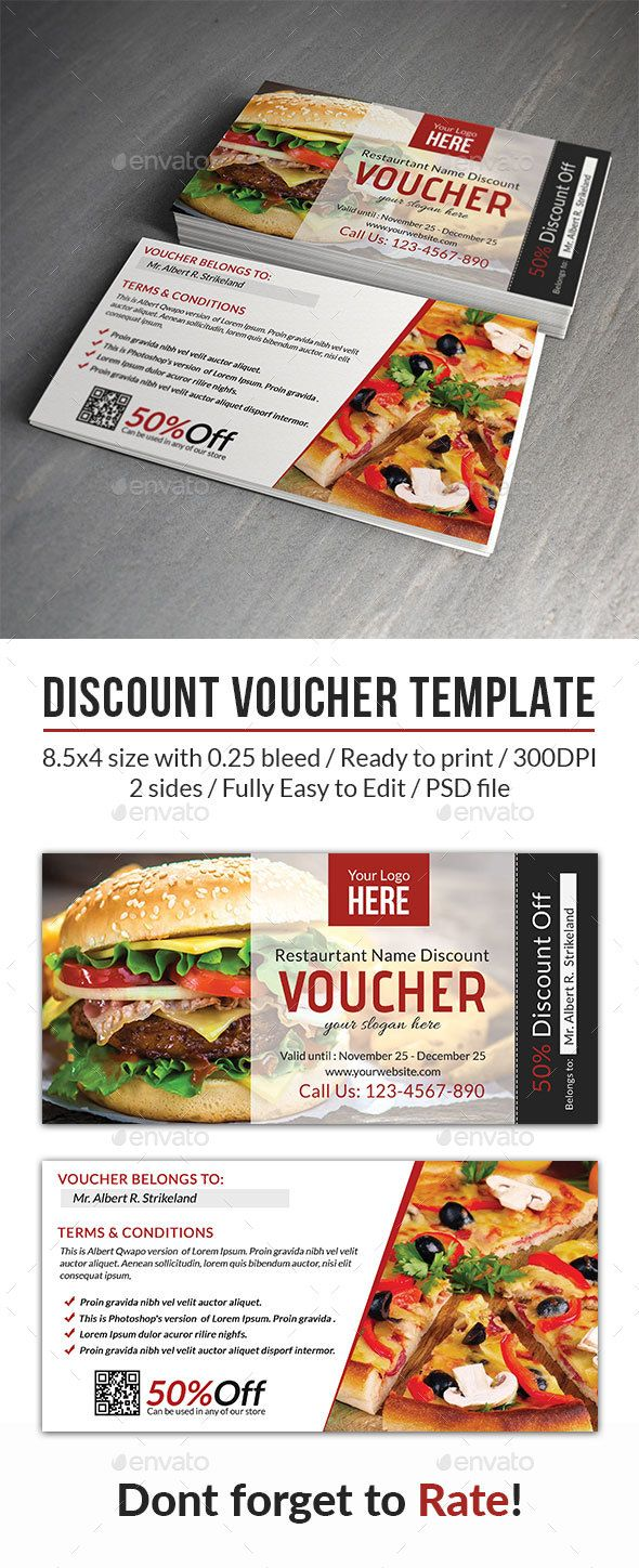 Discount Voucher Template  Discount Vouchers And Print Templates