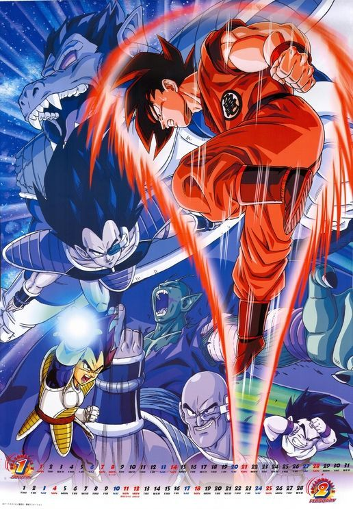 Goku Vegeta Gohan Piccolo Nappa Raditz Dragon Ball Gt Personajes De Dragon Ball Personajes De Goku