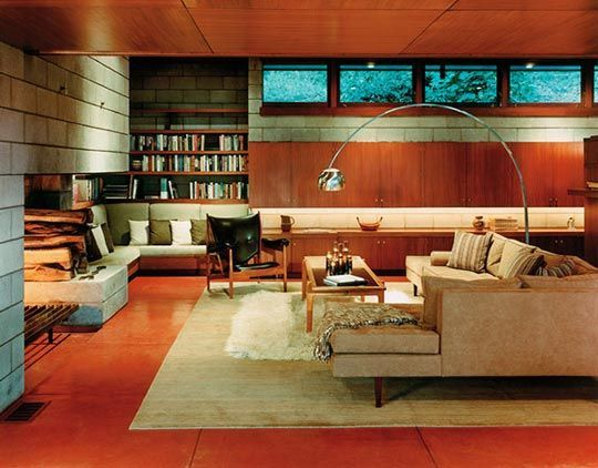 Image Result For Interiors Of Homes Designed By Frank Lloyd Wright