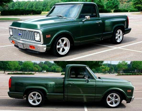 Green Chevy C10 With A Newer Model Stepside Bed Chevy C10 Old