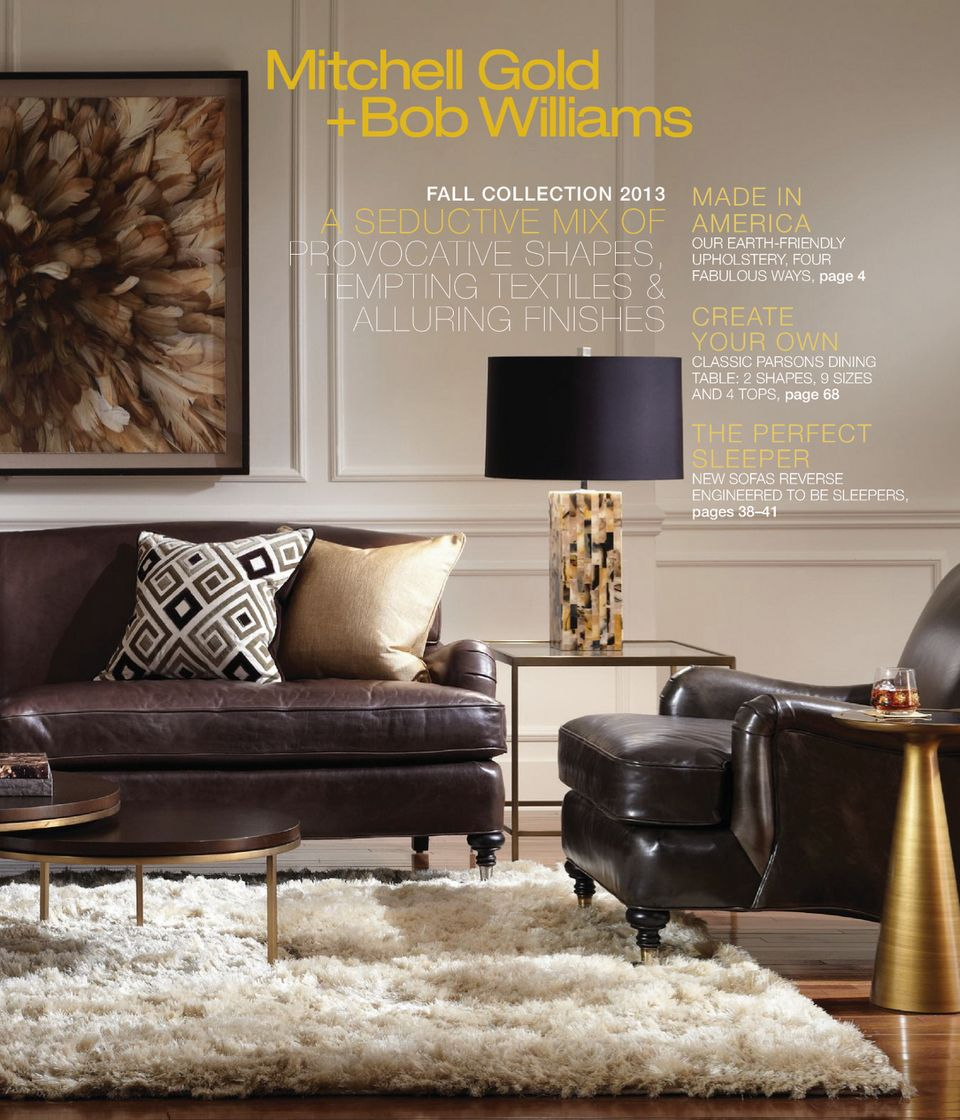 Home Interior Catalog 2013: Mitchell Gold And Bob Williams Catalog Fall Collection