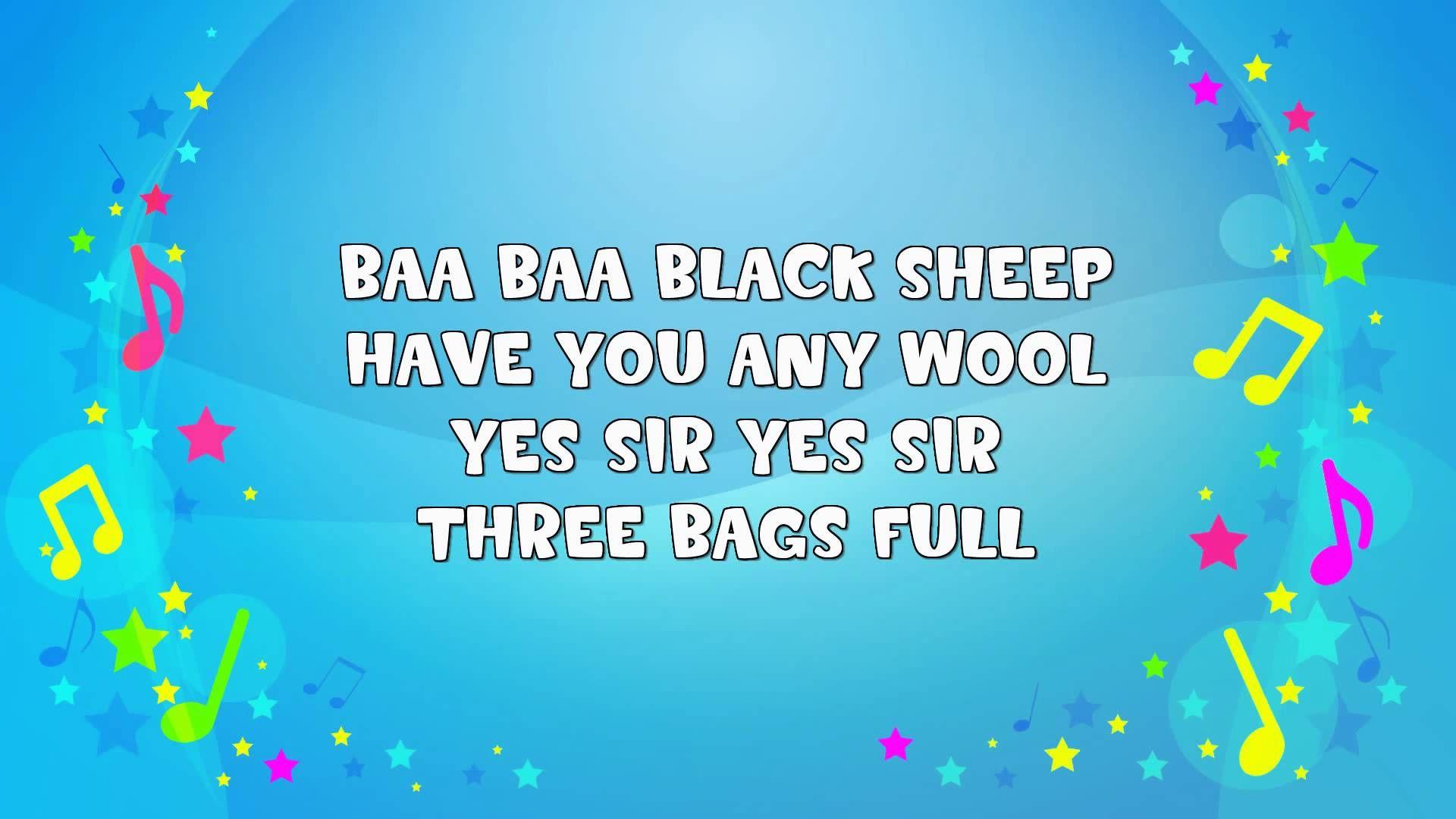Baa Baa Black Sheep Sing A Long