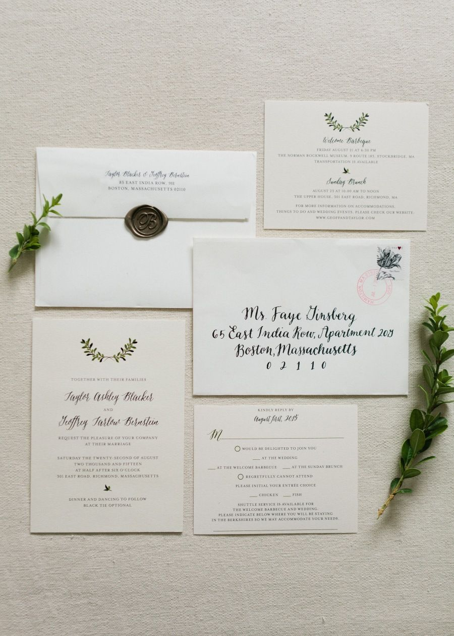 Tuscan Inspired Summer Wedding Wedding Invitations Paper Suite