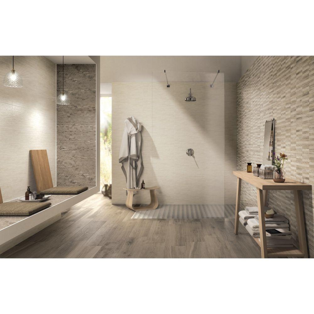 Carrelage mural salle de bain 26x60,5 Yute, collection Fiber NAXOS ...