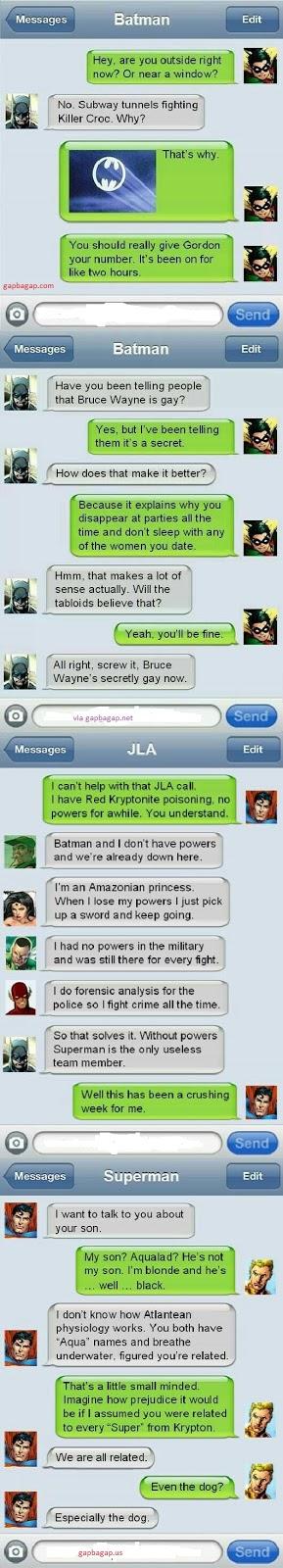 Top 4 Hilarious Text Messages About Batman vs. Sup