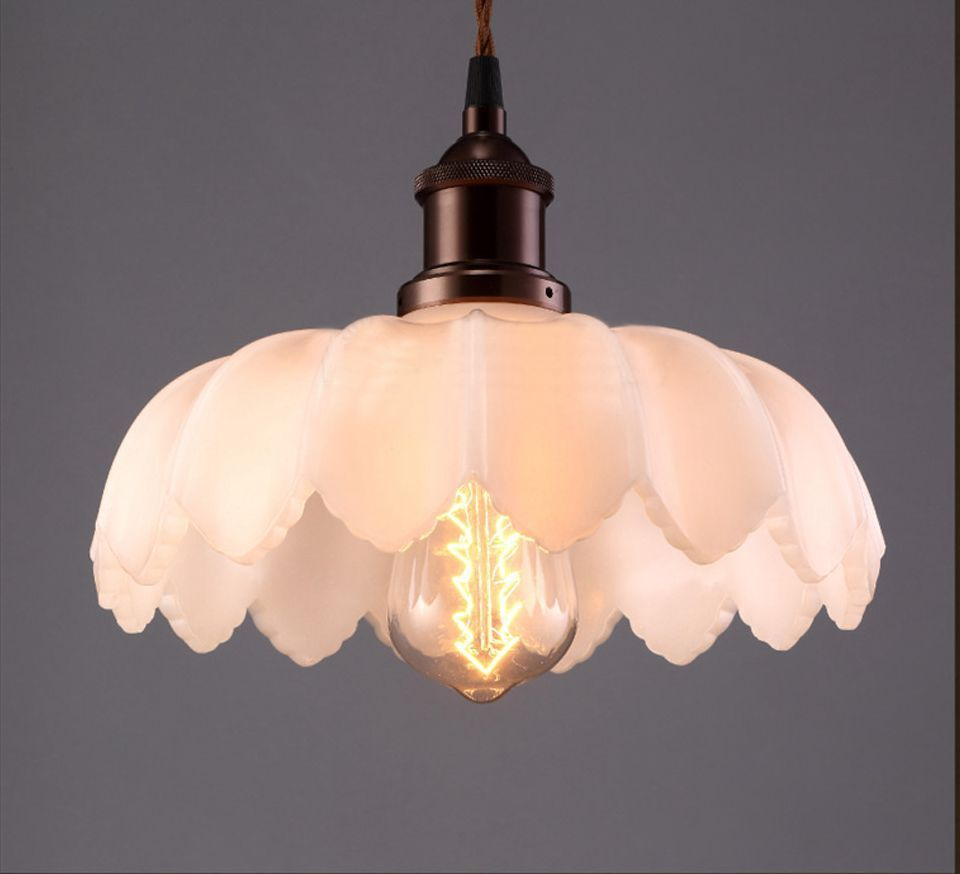 cheap pendant lighting. Cheap Glass Dome Light, Buy Quality Lighting Ball Directly From China Chandelier Suppliers: Vintage Loft Lotus Flower Pendant Light C