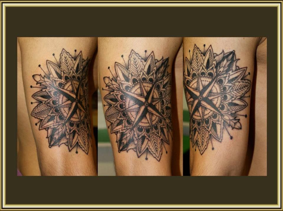 Tatouage Rose Des Vents Graphique Stylin Tattoos Mandala