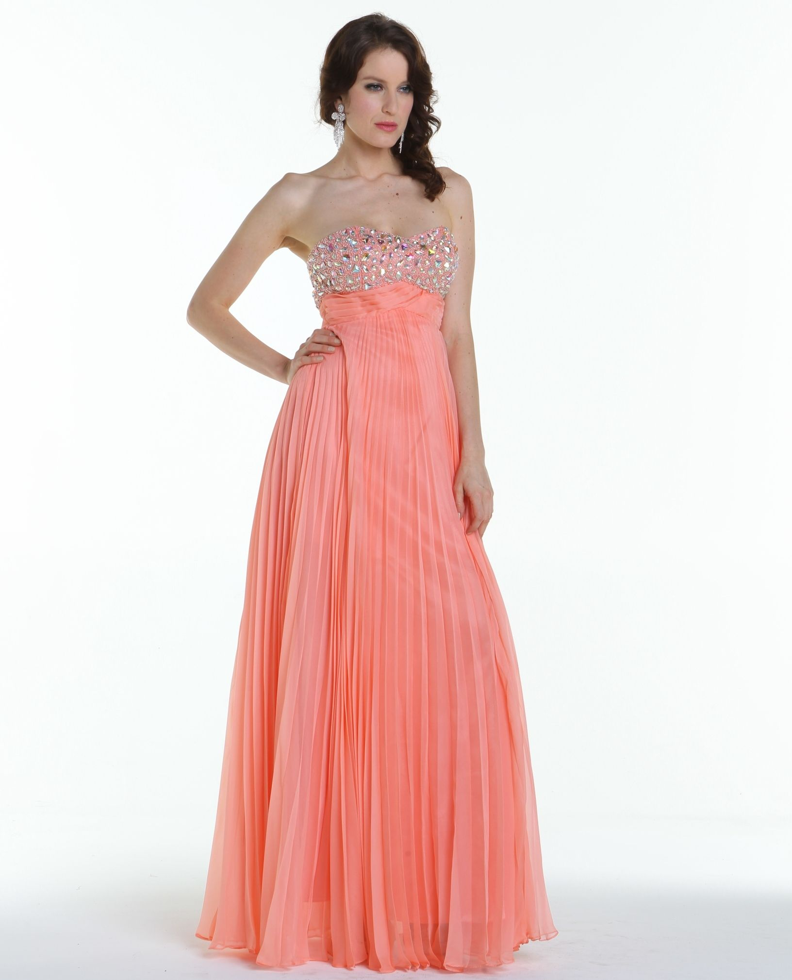 Coral Prom Gown. Vestido Largo en Coral. | Prom Dresses and ...