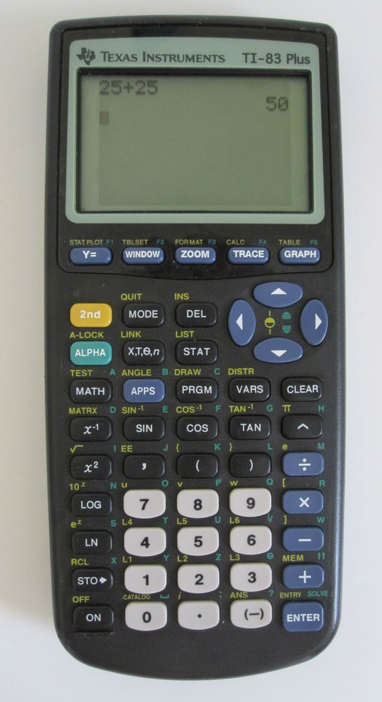Texas Instruments Ti 83 Plus Graphing Calculator Graphing