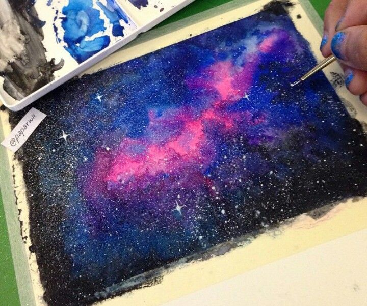 Galaxy watercolor | Watercolor Paintings | Pinterest ...